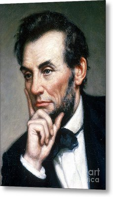 Abraham Lincoln 16th American President Metal Print by Photo Researchers