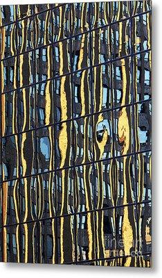 Abstract Reflection Metal Print by Tony Cordoza