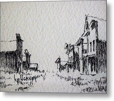 Ghost Town Metal Print by Kevin Heaney