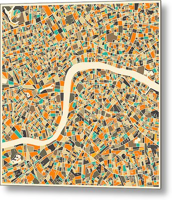 London Map Metal Print by Jazzberry Blue