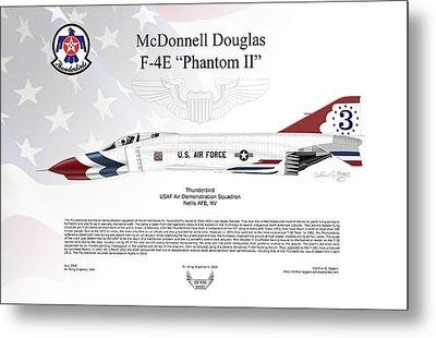 Mcdonnell Douglas F-4e Phantom II Thunderbird Metal Print