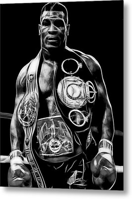 Mike Tyson Collection Metal Print by Marvin Blaine