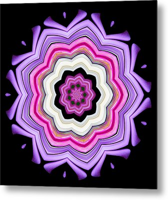 9-petaled Violet Metal Print by Baha'i Writings As Art