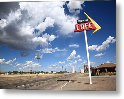 Route 66 Cafe Metal Print by Frank Romeo