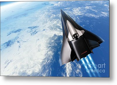 Saenger Horus Spaceplane, Artwork Metal Print