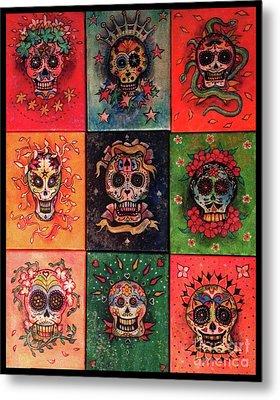 9 Skulls Metal Print by Dori Hartley