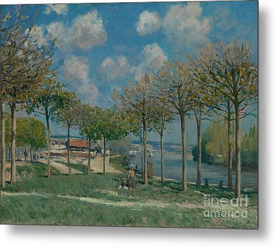 The Seine At Bougival Metal Print