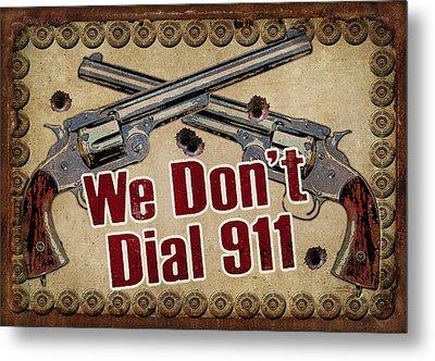 911 Metal Print by JQ Licensing