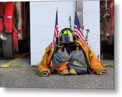 Metal Print featuring the photograph 911 Tribute IIi by Greg DeBeck