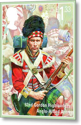 92nd Gordon Highlanders Metal Print