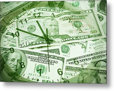 Metal Print featuring the photograph Time Is Money  by Les Cunliffe