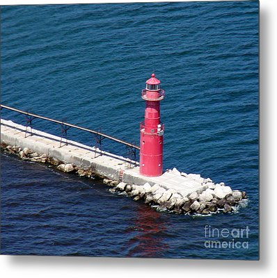 A-004 Algoma Lighthouse Wisconsin Metal Print by Bill Lang