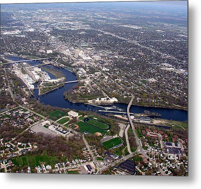 A-009 Appleton Wisconsin Downtown Metal Print by Bill Lang