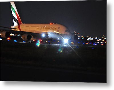 Emirates A380 Metal Print by Puzzles Shum