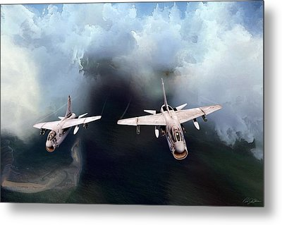 A-7 Clansmen Metal Print by Peter Chilelli