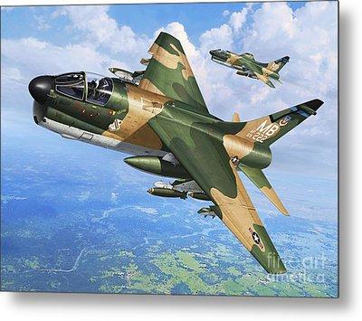 A-7d Corsair II Metal Print by Stu Shepherd