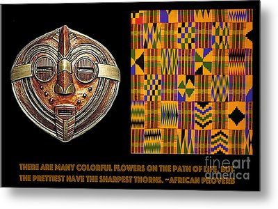 A  African Proverb Metal Print