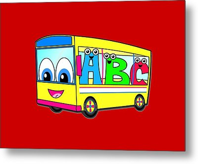 A B C Bus T-shirt Metal Print by Herb Strobino