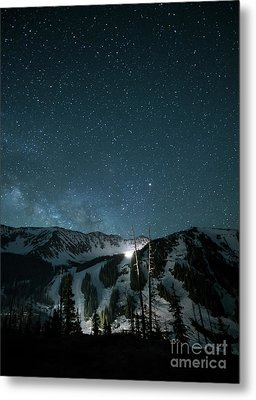 A-basin At Night Metal Print