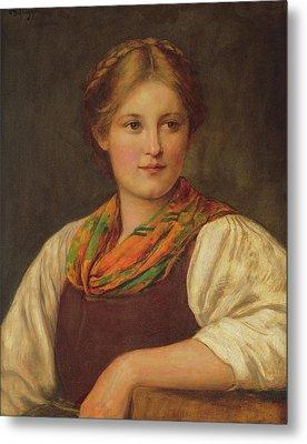 A Bavarian Peasant Girl Metal Print