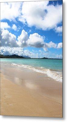 A Beautiful Day At Kailua Beach Hawaii Metal Print by Kerri Ligatich