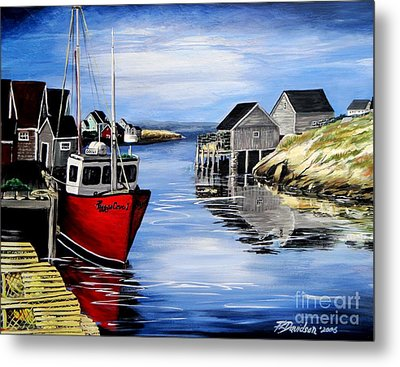 A Beautiful Day At Peggy's Cove  Metal Print by Patricia L Davidson