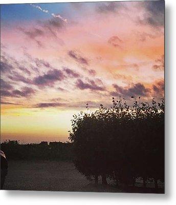 A Beautiful Morning Sky At 06:30 This Metal Print by John Edwards