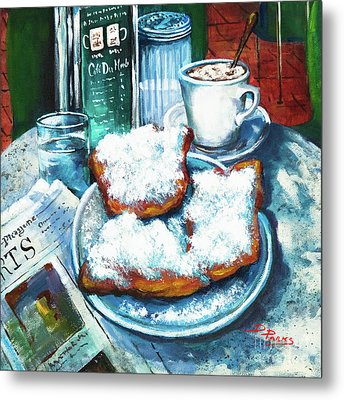 A Beignet Morning Metal Print