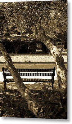 A Bench In The Park Metal Print