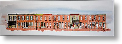 A Bit Of Scott Street  7x30 Metal Print