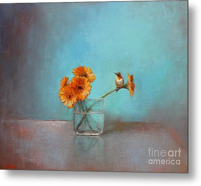 A Bit Of Summer Metal Print by Lori  McNee