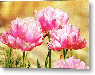 A Bouquet Of Tulips Metal Print by Trina Ansel