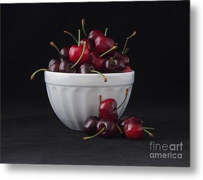 A Bowl Full Of Cherries Metal Print