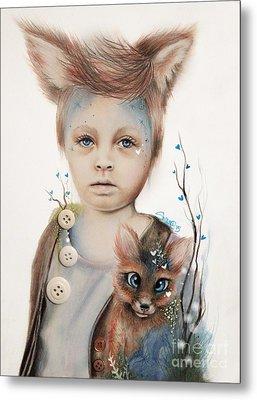 A Boy And His Fox   Metal Print by Sheena Pike