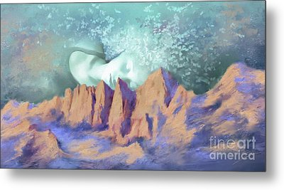 Metal Print featuring the painting A Breath Of Tranquility by S G