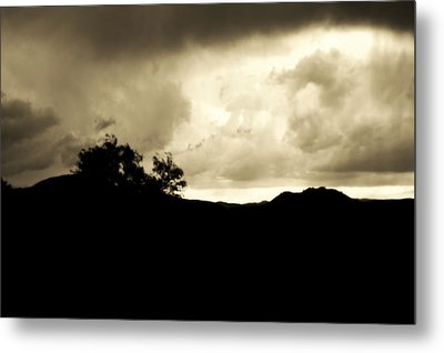 A Brewing Storm Metal Print