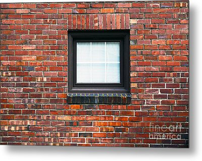 A Brick Wall. Seattle Washington Usa Metal Print by Nathan Griffith
