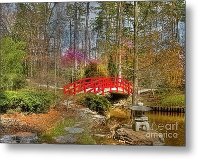 A Bridge To Spring Metal Print by Benanne Stiens