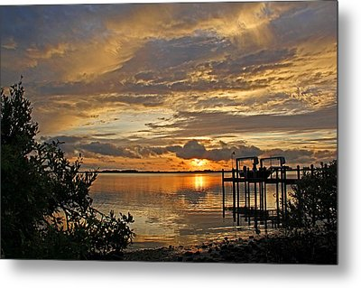 A Brooding Sunset Sky Metal Print by HH Photography of Florida