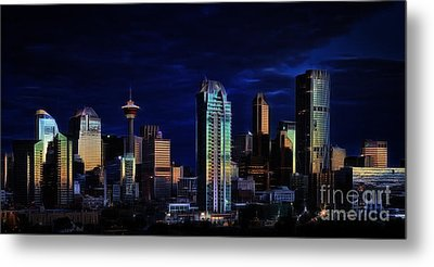Metal Print featuring the photograph A Calgary Sunrise by Brad Allen Fine Art