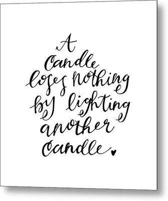 A Candle Metal Print by Nancy Ingersoll