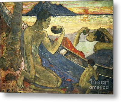 A Canoe Metal Print by Paul Gauguin