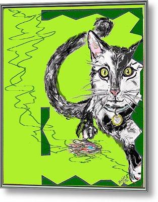 A Cat Metal Print