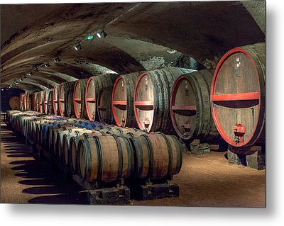 A Cellar Of Burgundy Metal Print by W Chris Fooshee