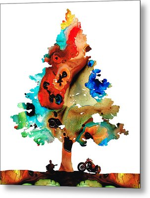 A Certain Kind Of Freedom - Guitar Motorcycle Art Print Metal Print by Sharon Cummings