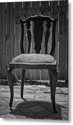 A Chair In Despair Metal Print by DigiArt Diaries by Vicky B Fuller