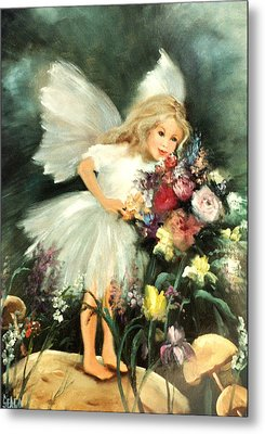 A Childs Dream Metal Print by Sally Seago