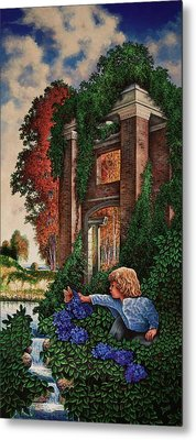 Metal Print featuring the painting A Child's Wonder by Michael Frank