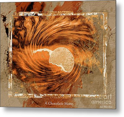 A Chocolate Moon Metal Print