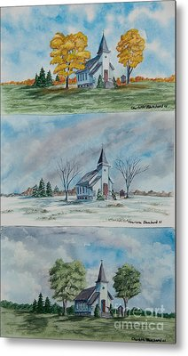 A Church For All Seasons Metal Print by Charlotte Blanchard